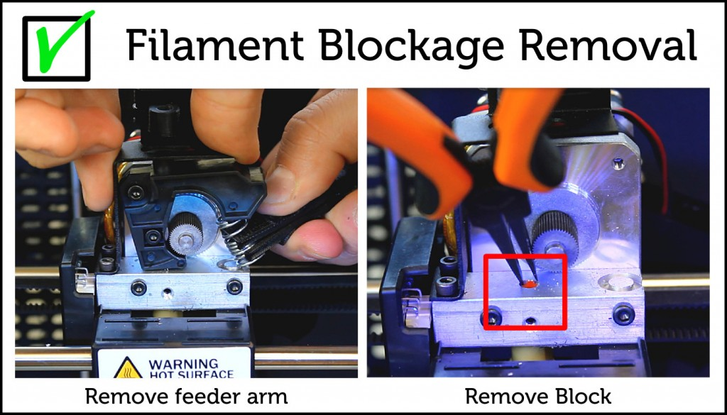 Filament Blockage Removal